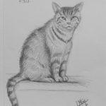 30 minuten schets 'Ziggy', grafiet op Croquis schetspapier