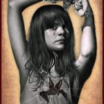 'Bat For Lashes', 30x42cm, mixed media op Canson Bristol