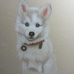 'Hondje', pastel op Strathmore papier